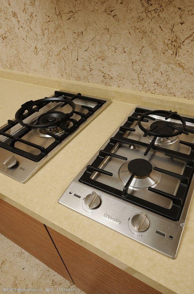 精裝樣板房廚房燃氣灶圖片
