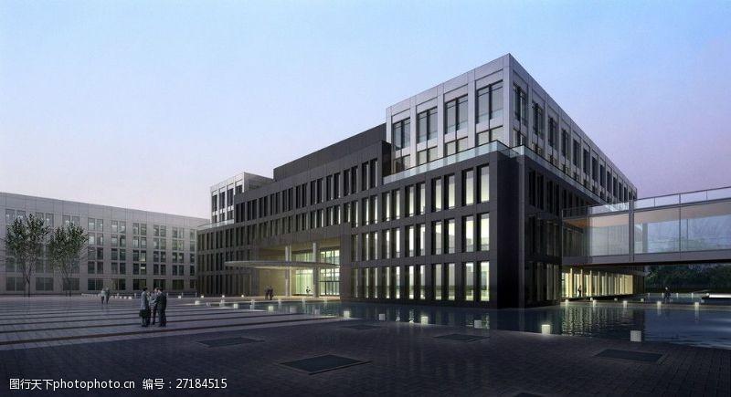 3d设计源文件商业建筑效果图