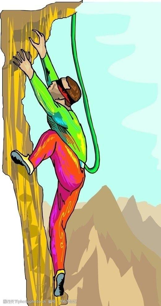登山的男人登山图片