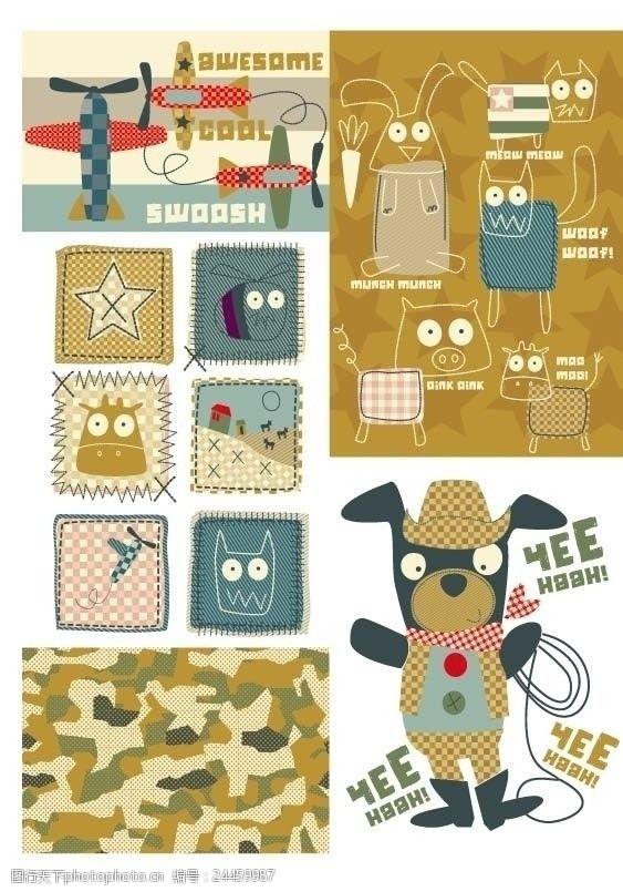 外贸童装图案童装卡通图案设计手稿流行趋势