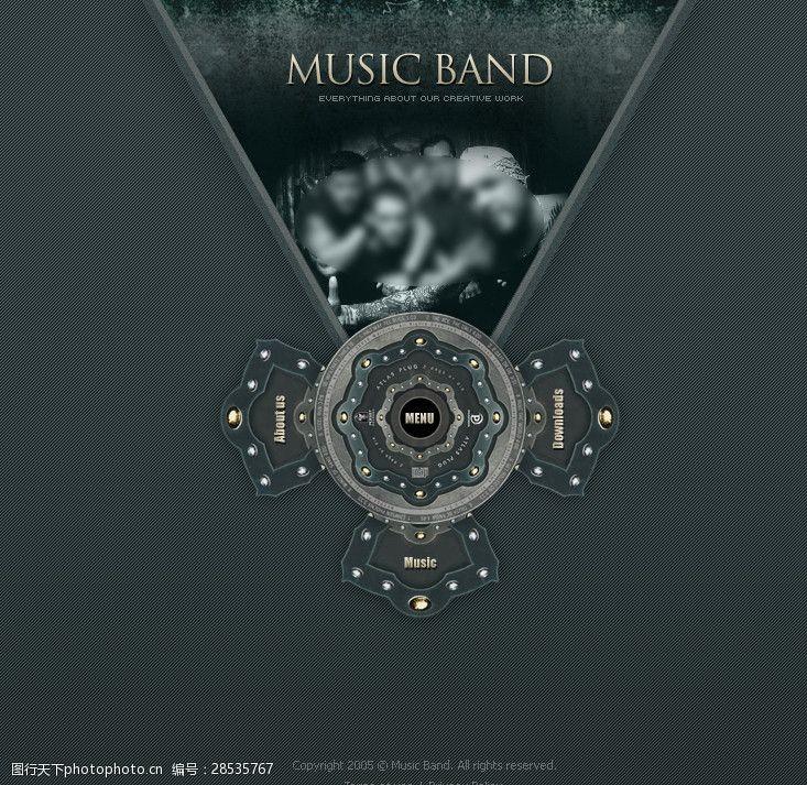 音乐网页flash音乐网站设计