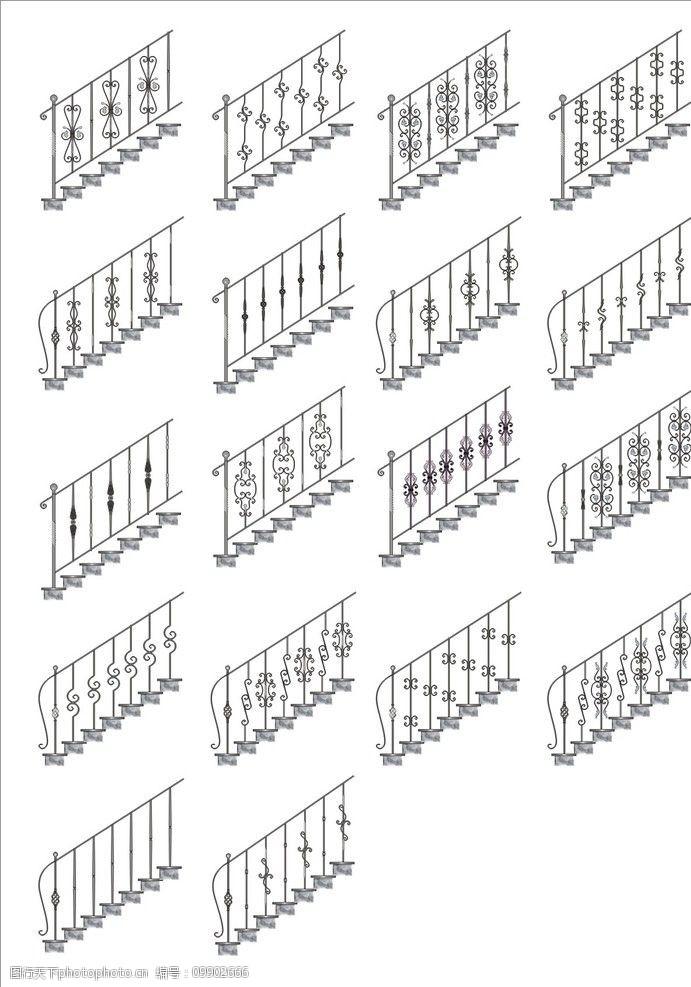 花边铁艺楼梯扶手图片