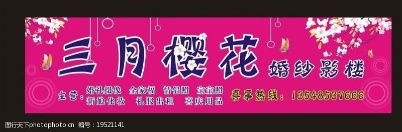 樱花广告樱花婚纱摄影温馨背景三月樱花图片