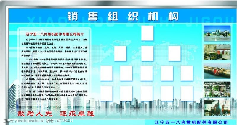 白钢边企业展板图片