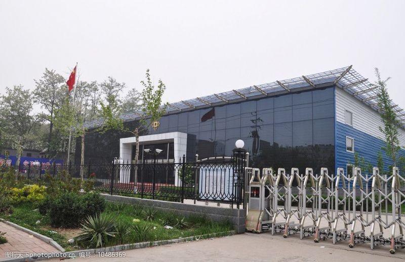 铁艺围墙定州市规划展览馆图片