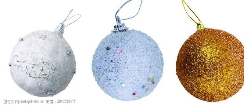 圣诞元素集合圣诞彩球