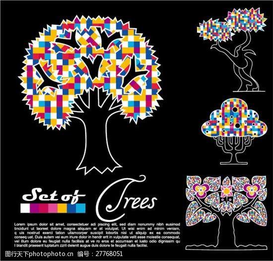 炫丽多彩的树木