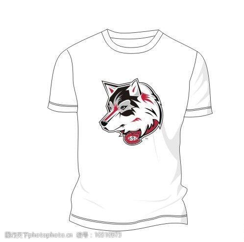 创意服装设计狼图腾Tshirt图片