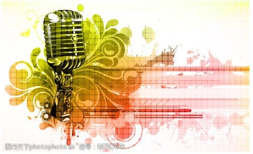 流行音乐海报矢量素材耳麦音乐元素