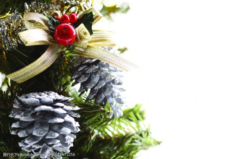 圣诞元素集合松子球圣诞元素