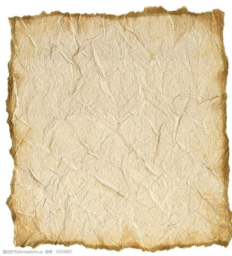 黃色宣紙揉皺的紙圖片